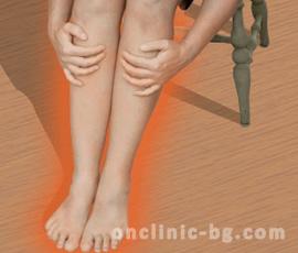 Варикозната рана е съпътствана от натрапчива болка